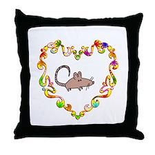 Fancy Heart Rat Throw Pillow