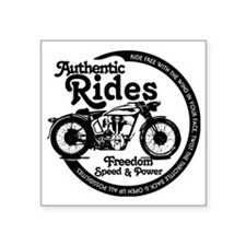 "Retro Cruzer Cycle Square Sticker 3"" x 3"""