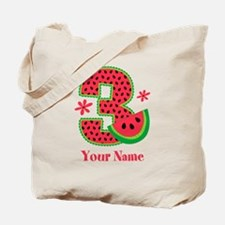 Watermelon 3rd Birthday Tote Bag