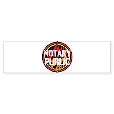 Notary Public Bumper Bumper Sticker