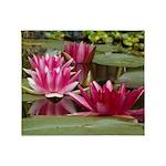 Lotus Flower Blossom Throw Blanket