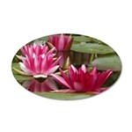 Lotus Flower Blossom 20x12 Oval Wall Decal