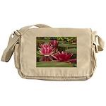Lotus Flower Blossom Messenger Bag