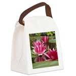 Lotus Flower Blossom Canvas Lunch Bag