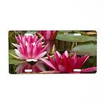 Lotus Flower Blossom Aluminum License Plate