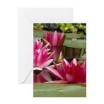 Lotus Flower Blossom Greeting Card