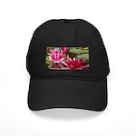 Lotus Flower Blossom Black Cap