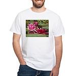 Lotus Flower Blossom White T-Shirt