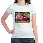 Lotus Flower Blossom Jr. Ringer T-Shirt