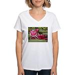 Lotus Flower Blossom Women's V-Neck T-Shirt