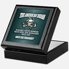 American Indian (Whos The Terrorist) Keepsake Box