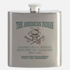 American Indian (Whos The Terrorist) Flask