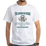 Native american Mens White T-shirts
