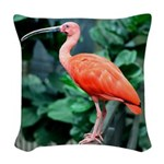 Stunning Scarlet Ibis Woven Throw Pillow