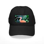 Stunning Scarlet Ibis Black Cap