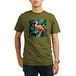Stunning Scarlet Ibis Organic Men's T-Shirt (dark)