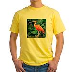 Stunning Scarlet Ibis Yellow T-Shirt