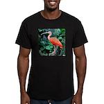 Stunning Scarlet Ibis Men's Fitted T-Shirt (dark)
