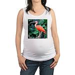 Stunning Scarlet Ibis Maternity Tank Top
