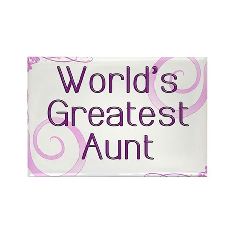 World's Greatest Aunt Rectangle Magnet (100 pack)