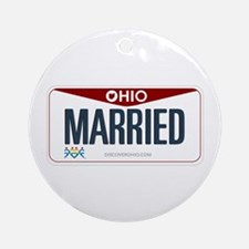 Ohio Marriage Equality Ornament (Round)