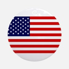 US Flag Gifts Ornament (Round)