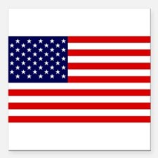 """US Flag Gifts Square Car Magnet 3"""" x 3"""""""