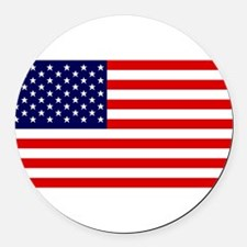US Flag Gifts Round Car Magnet