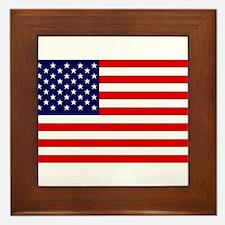 US Flag Gifts Framed Tile