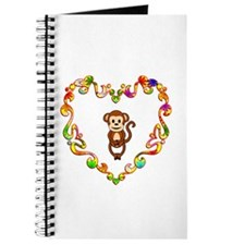Fancy Heart Monkey Journal