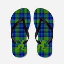 Frogs in a Pond Plaid Flip Flops