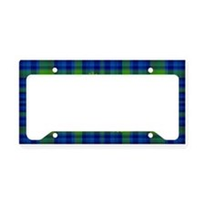 Frogs in a Pond Plaid License Plate Holder