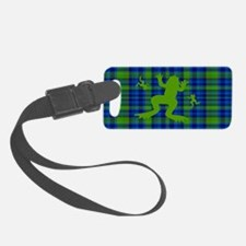 Frogs in a Pond Plaid Luggage Tag