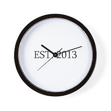 Est 2013 Wall Clock