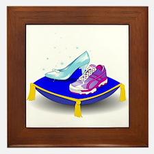Princess Running Shoes Framed Tile