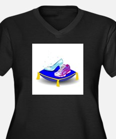 Princess Running Shoes Plus Size T-Shirt