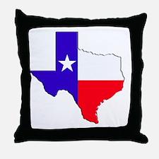 Texas Flag State Throw Pillow