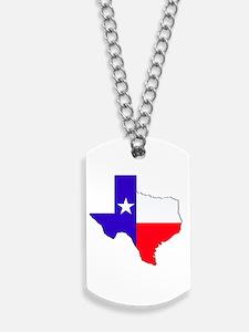 Texas Flag State Dog Tags