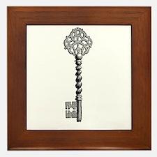 Vintage Key Framed Tile