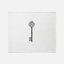 Vintage Key Throw Blanket