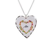 Fancy Heart Mouse Necklace