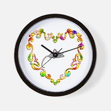 Fancy Heart Mouse Wall Clock