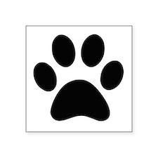 Black Paw print Sticker