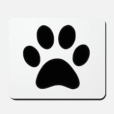 Black Paw print Mousepad
