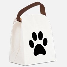 Black Paw print Canvas Lunch Bag