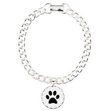 Black Paw print Bracelet