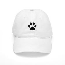 Black Paw print Baseball Cap