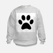 Black Paw print Sweatshirt