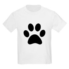 Black Paw print T-Shirt