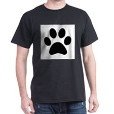 Black Paw print T-Shirt